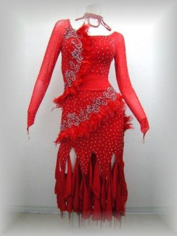値下げ!赤いラテンドレス