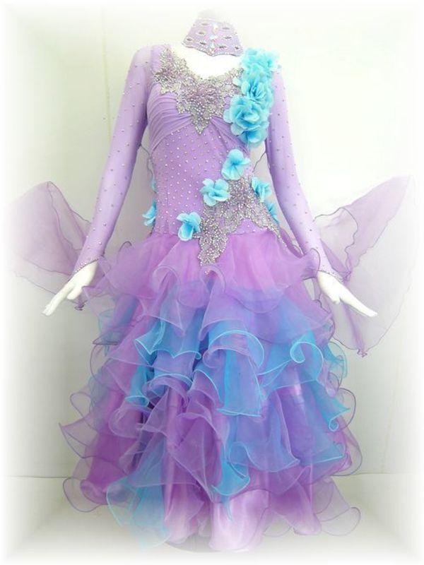 【社交ダンス衣装 アルル】春の新作!正装ドレス入荷致しました♪