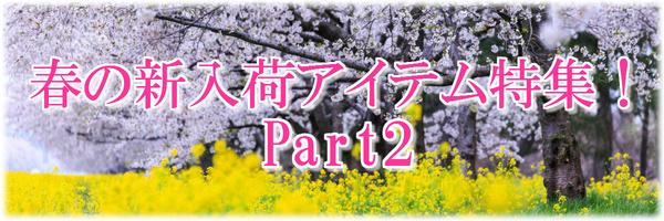 春の新入荷アイテム特集♪Part2