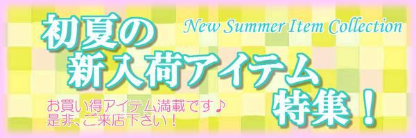 初夏の新入荷アイテム大特集Part2