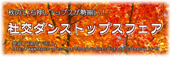 秋の社交ダンストップスフェア!
