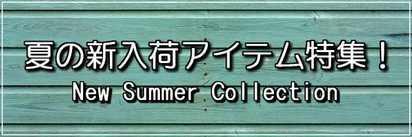 夏の新入荷アイテム特集!