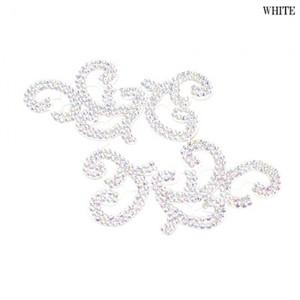 【ac179】リメイク商品 フラワー刺繍モチーフ ストーン 2枚 ホワイト