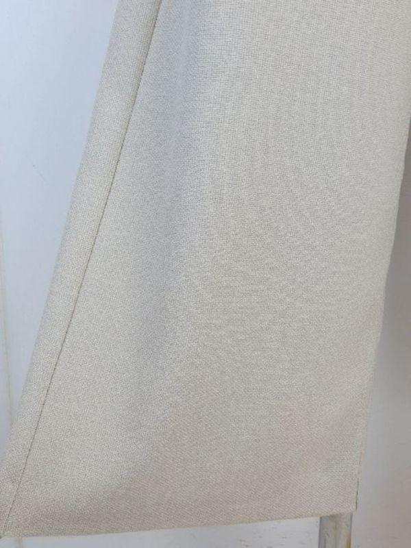 日本製【f061】春物☆お洒落ワイドパンツ 麻風ポリエステル 11号 ベージュ