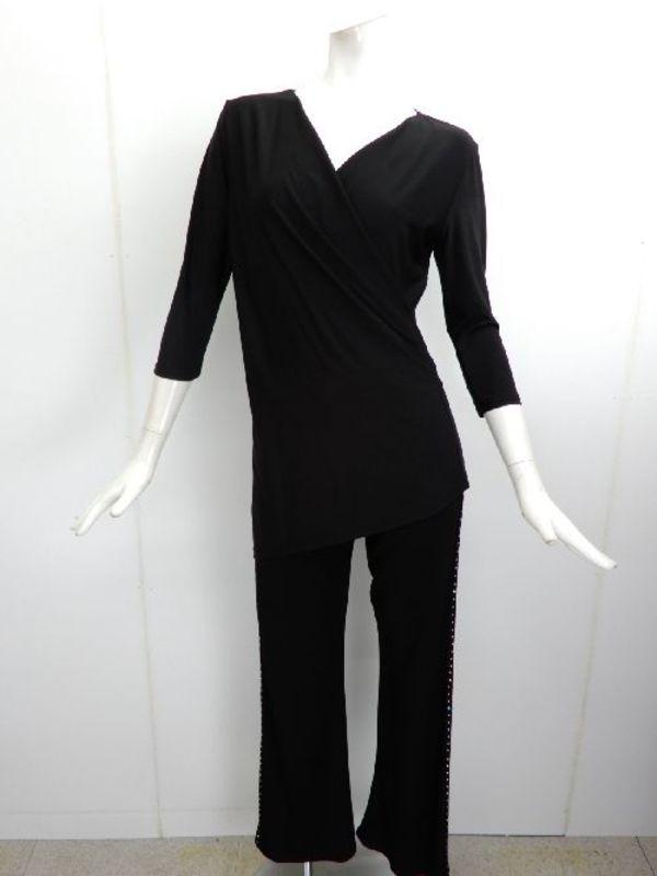 《高品質》【c335】社交ダンス衣装 重ね襟 シンプル