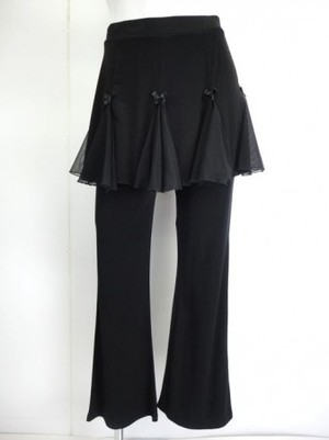 LLサイズ【p468】ダンスパンツ オーバースカート一体化 8枚はぎリボン