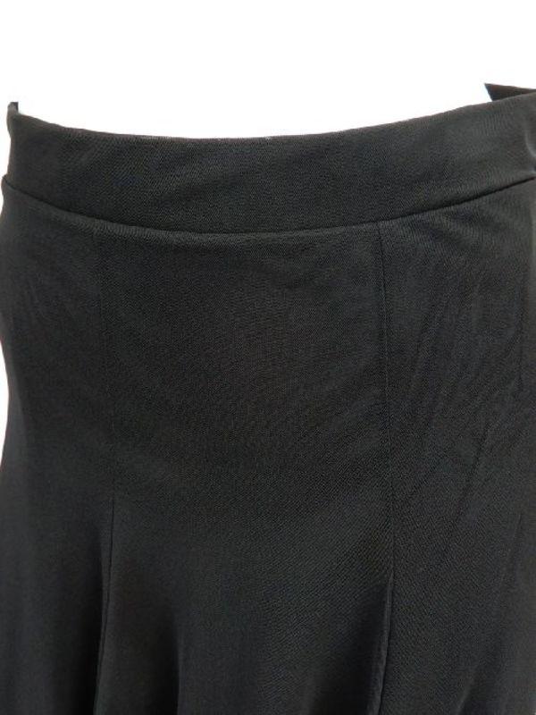 【sk711】ミディアムスカート ネット生地裏地付き 裾ストーンテープ付 ブラック