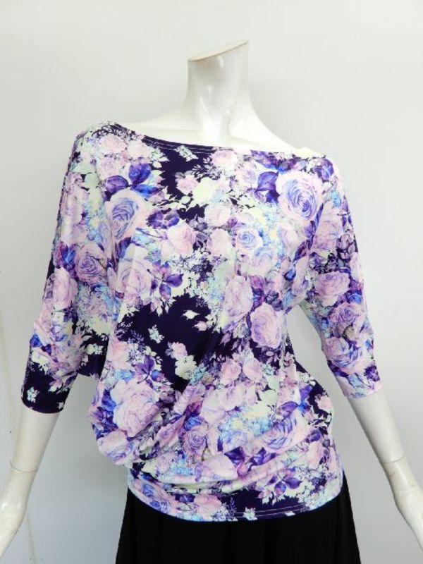 【su462】社交ダンス上下スーツ ボートネック&裾広ロングスカート ブルー