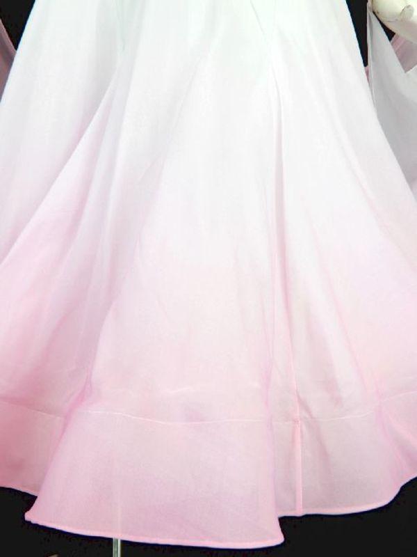 《値下げ》【wp660】社交ダンスドレス正装モダン グラデーション ピンク Mサイズ
