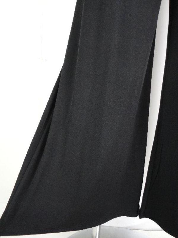 Mサイズ《人気商品》【p459】社交ダンスパンツ ワイド ウエスト交差 ブラック