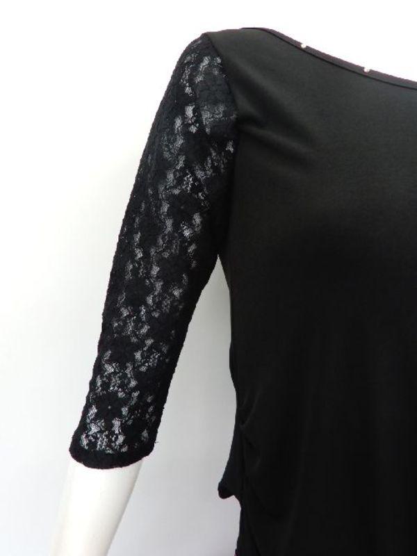高品質【su438】社交ダンス上下スーツ リボン飾りふんわりスカート ブラックピンク