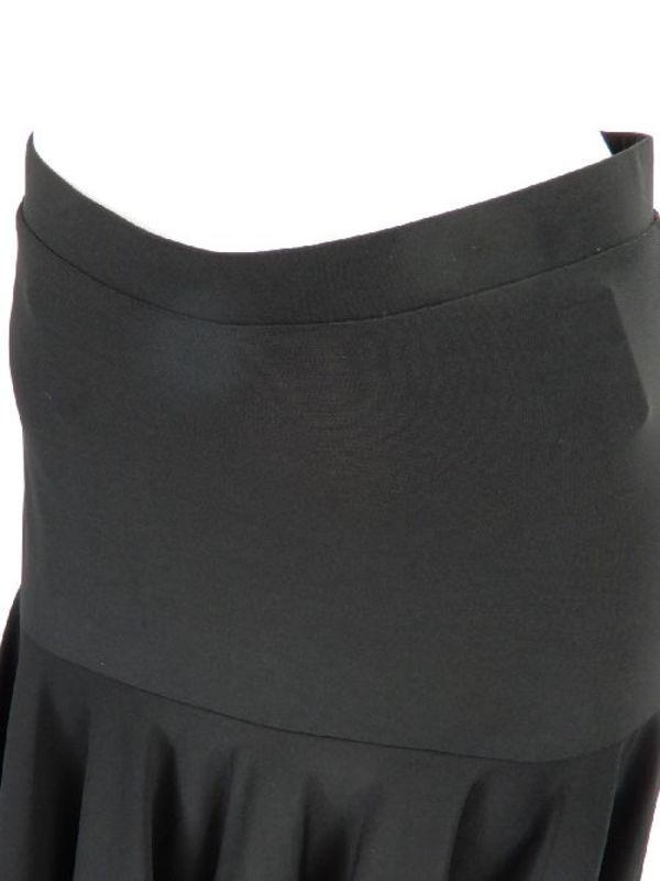 【sk759】社交ダンスミディアムスカート ヒップ切替裾テープ ブラック