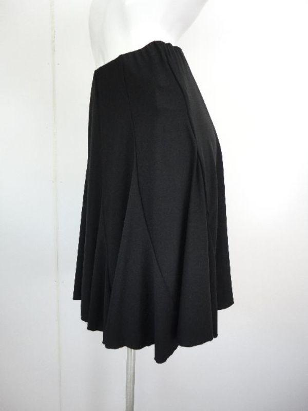 【sk485】社交ダンスミディアムスカート シンプルエスカルゴ ブラック