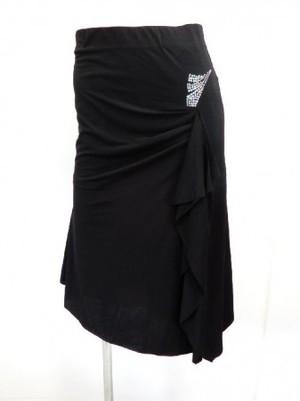 《高品質》【sk650】社交ダンスラテンスカート 裾斜めランダムカット スリット入