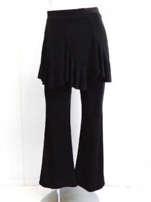 LLサイズ【p534】ダンスパンツ オーバースカート一体化 エスカルゴ切替