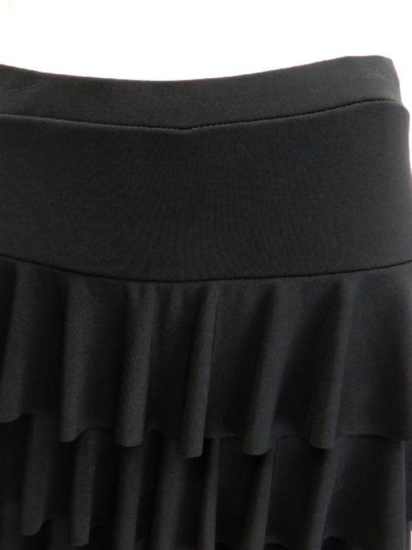 フリーサイズ【p472】ダンスパンツ オーバースカート一体化 3段フリル