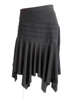 【sk523】社交ダンスラテンスカート 裾ギザギザヒップライン紐垂れ飾り