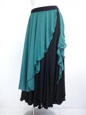 大処分《高品質》【sk361】国産モダンスカート サイドファスナ M グリーン 16900円を↓