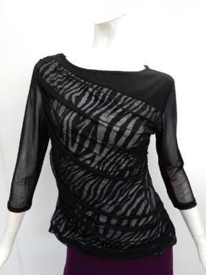 Lサイズ【c309】社交ダンス衣装 パワーネット重ね×ゼブラ 黒白