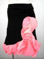 《値下げ》【ss540】縦フリル 裏付き ラテンスカート ピンク 5400円を↓