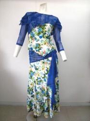 《さらに値下げ》【st716】花のれん ブルー 12722円を↓