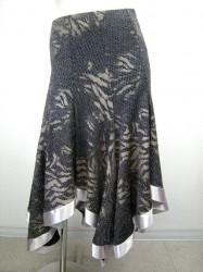 【ss648】ラメ柄 スカート ブラックシルバー