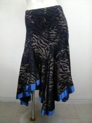 【ss649】ラメ柄 スカート ブルー