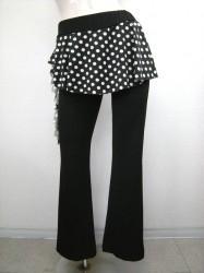 【p302】ダンスパンツ スカート一体化 水玉柄