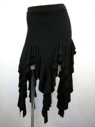 【ss865】社交ダンス衣装 ラテンミニスカート 超ギザギザ ブラック