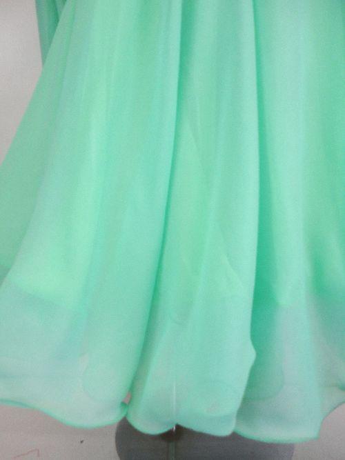 1cb7513367a24 新入荷 wp618 社交ダンスドレス正装モダン グリーンシフォン Mサイズ 59800円